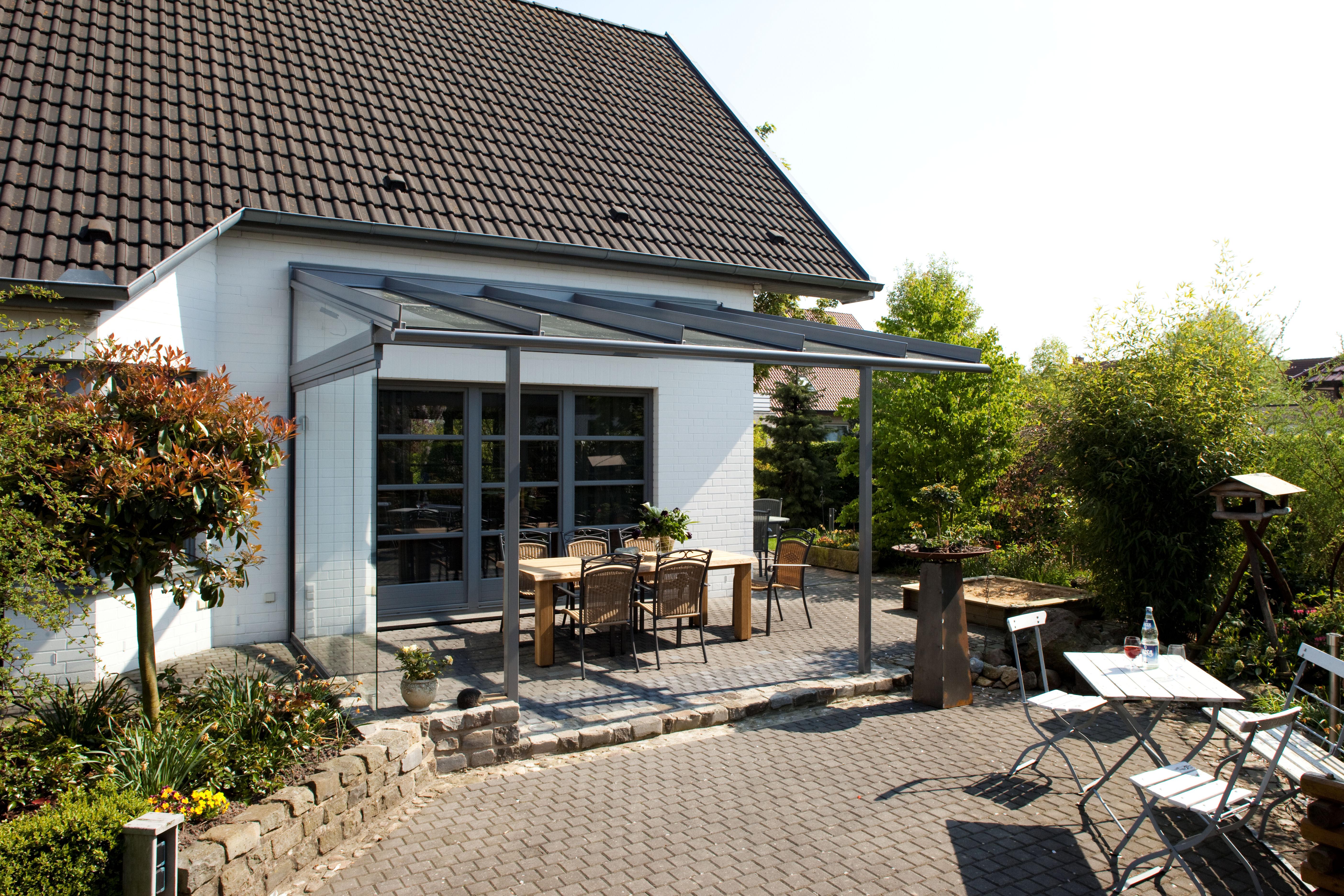 veranda ouverte en alu sur terrasse